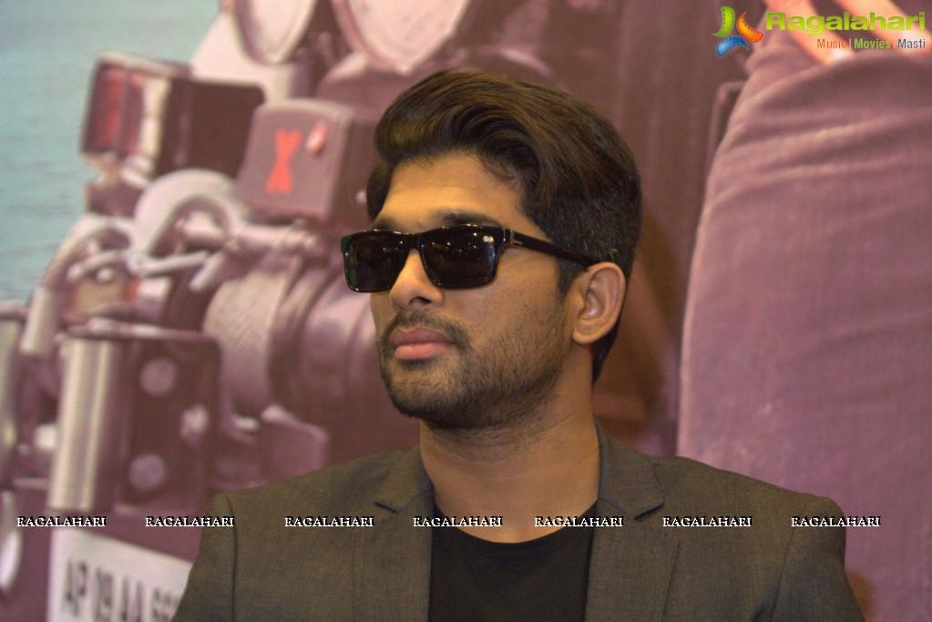allu arjun sarrainodu bangalore press meet photos