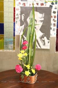 Ikebana Flower Arrangement Demonstration