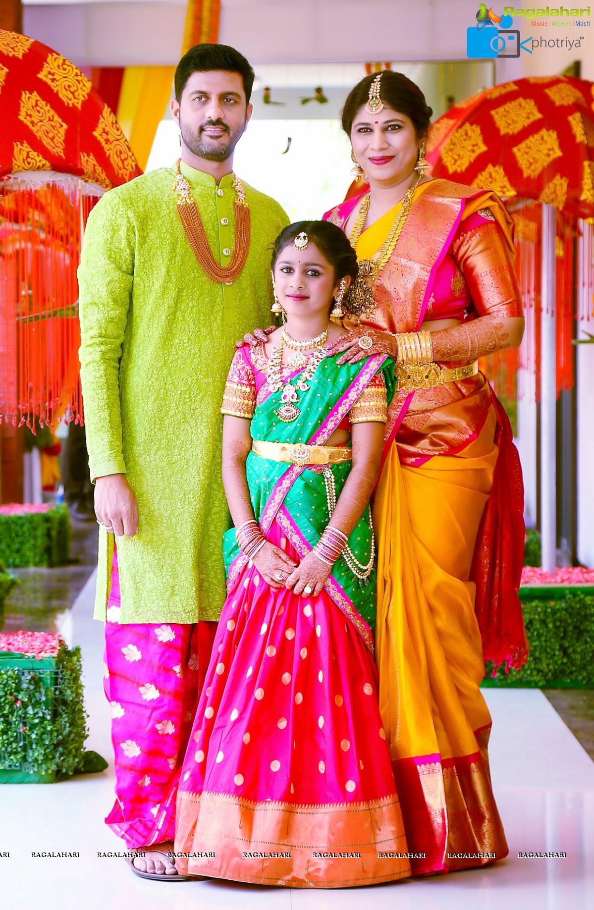 Photos - Half Saree Function of Hiya - Daughter of Famous Jewellery Designer Swetha Reddy