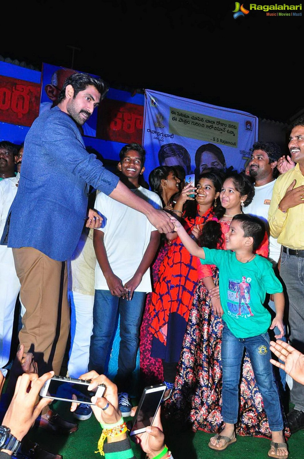 Photos Rana Meets And Greets Kancharapalem People