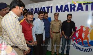 Ram Pothineni and Koneru Hampi at Amaravathi Marathon