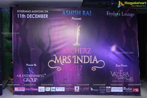 Archerz Mrs India 2017 Auditions