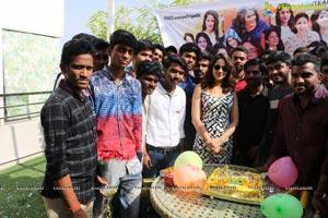 Lavanya Tripathi Birthday with fans