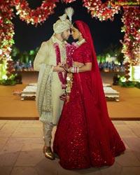 Mannara Chopra Attends Priyanka Chopra's Reception
