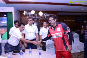 CCL 2013 Telugu Warriors Team at Taj Deccan, Hyderabad
