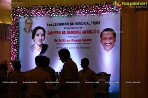 Eashwari Bai Memorial Award 2013