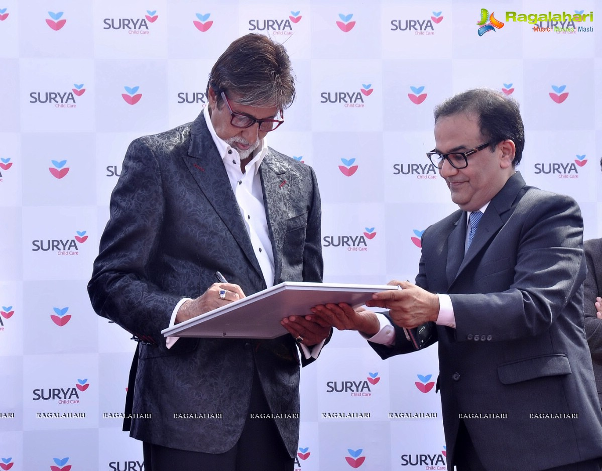 8a17ae74b84 Photos  Amitabh Bachchan inaugurates Surya Child Care