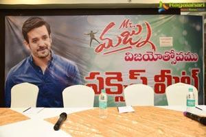 Mr. Majnu Success Meet at Vijayawada