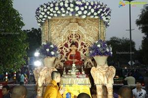 Procession Of Buddhist Monks & Followers