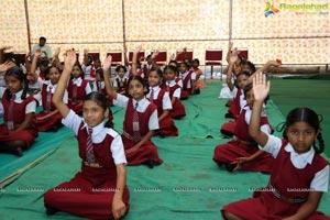 Catherine Tresa participates in Intl Yoga Celebrations