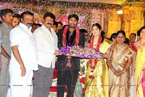 Talasani Srinivas Yadav Son Sai Yadav-Mahita Wedding Reception