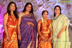 Alekhya Reddy Daughter Nakshatra Saree Function