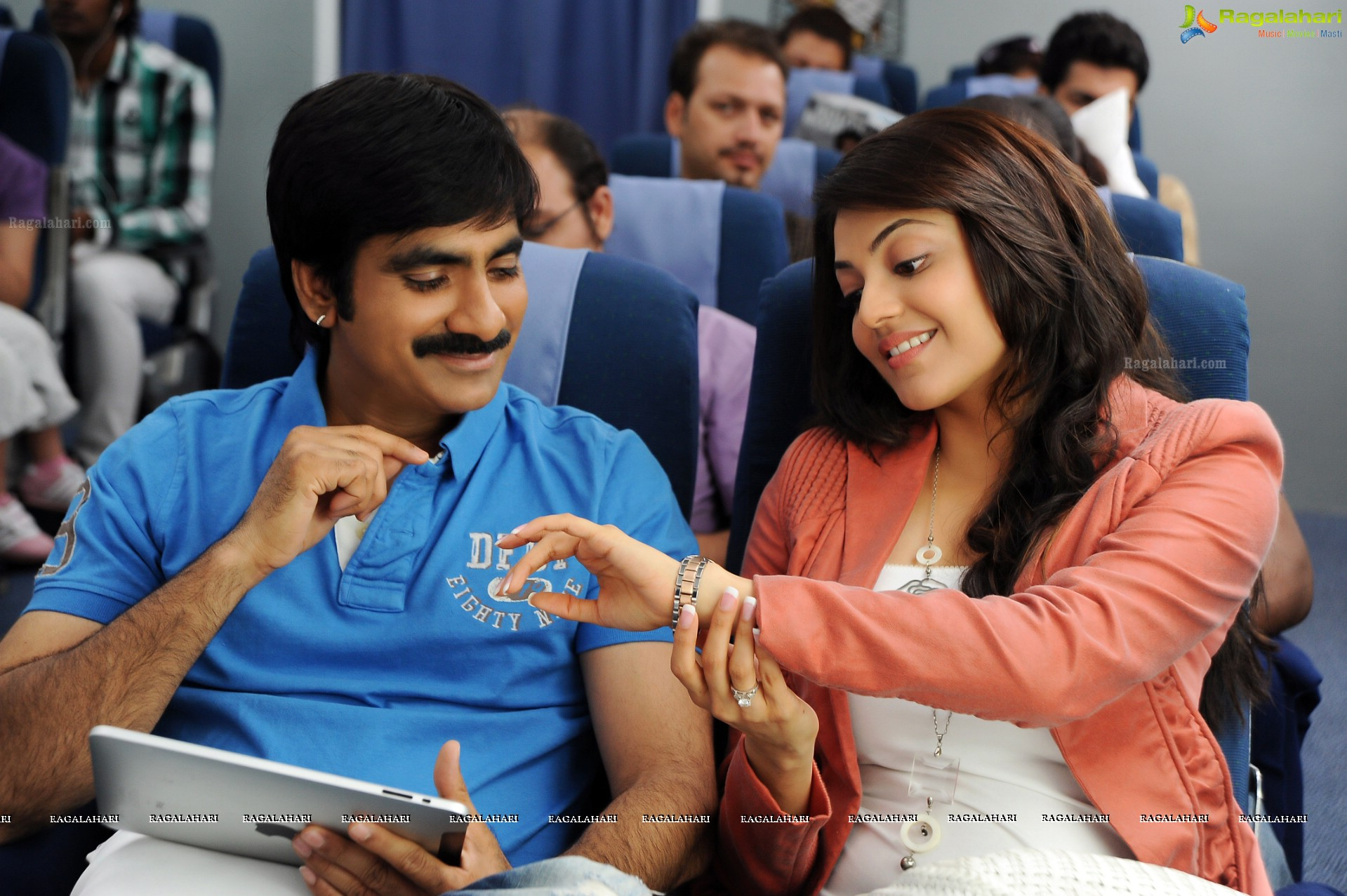 Ravi Teja and Kajal in Sarocharu