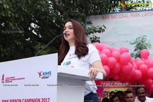 Tamannaah flags off 9th Edition of 2K Pink Ribbon Walk