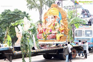 Khairatabad Ganesh Idol 2013 Immersion